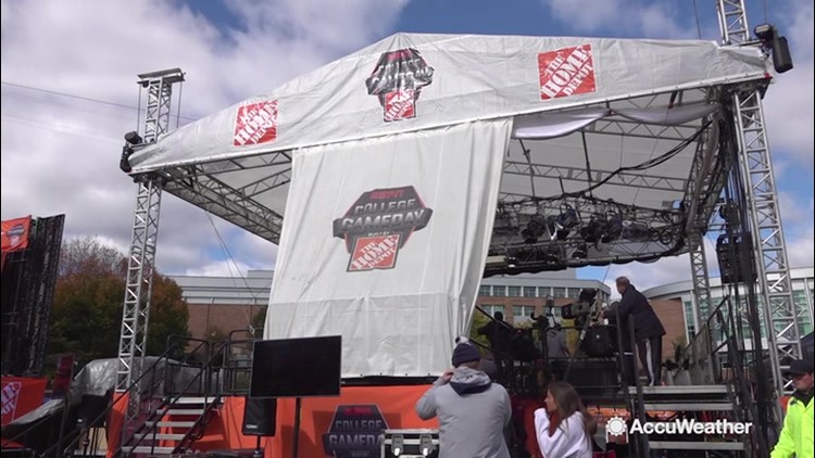 College Gameday graced with perfect football weather