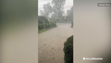 Residents flabbergasted by golf-ball-sized hail