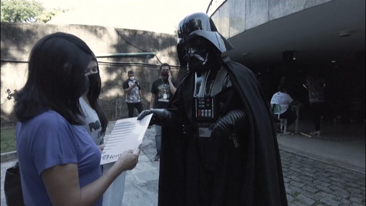 Darth Vader encourages Brazilians to get COVID vaccine
