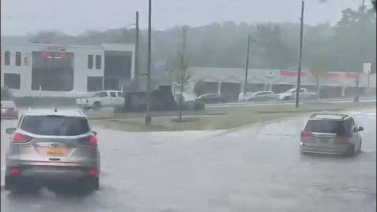 Strong storms move across the south