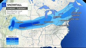 Wintry storm to unleash snow, ice and rain as it marches across 2,000-mile stretch of U.S.