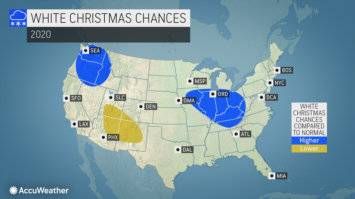 Chances For A White Christmas 2020 White Christmas forecast: the holiday is six weeks away, will