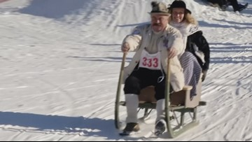 It's Snow Time! Czech Citizens Take Part in Annual Sledge Race