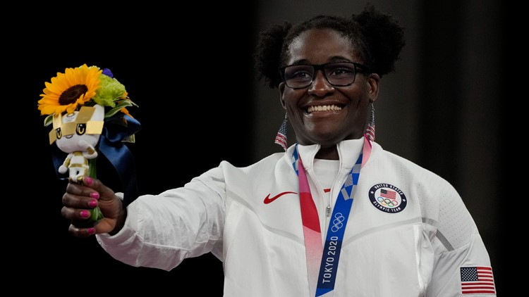 Tamyra Mensah-Stock went for second gold medal ever for a U.S. female wrestler. Here's how she did.