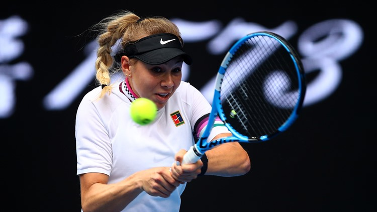 Amanda Anisimova tennis racket