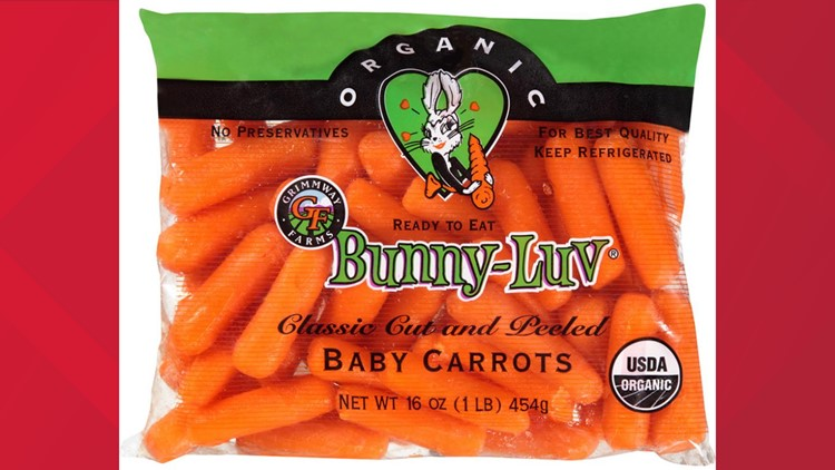 Packaged carrots recalled due to potential Salmonella contamination
