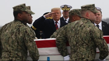 Trump pays tribute to Americans killed in Syrian attack