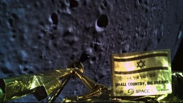 Israeli spacecraft crashed during moon landing attempt