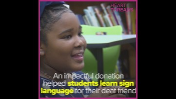 Students learns ASL to communicate with deaf classmate