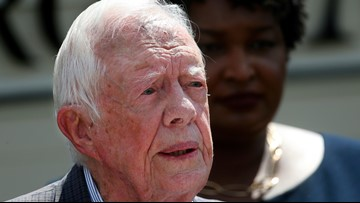 Jimmy Carter hospitalized after fall at Georgia home
