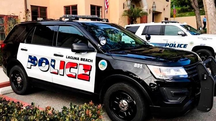 Police Flag Controversy Laguna Beach AP