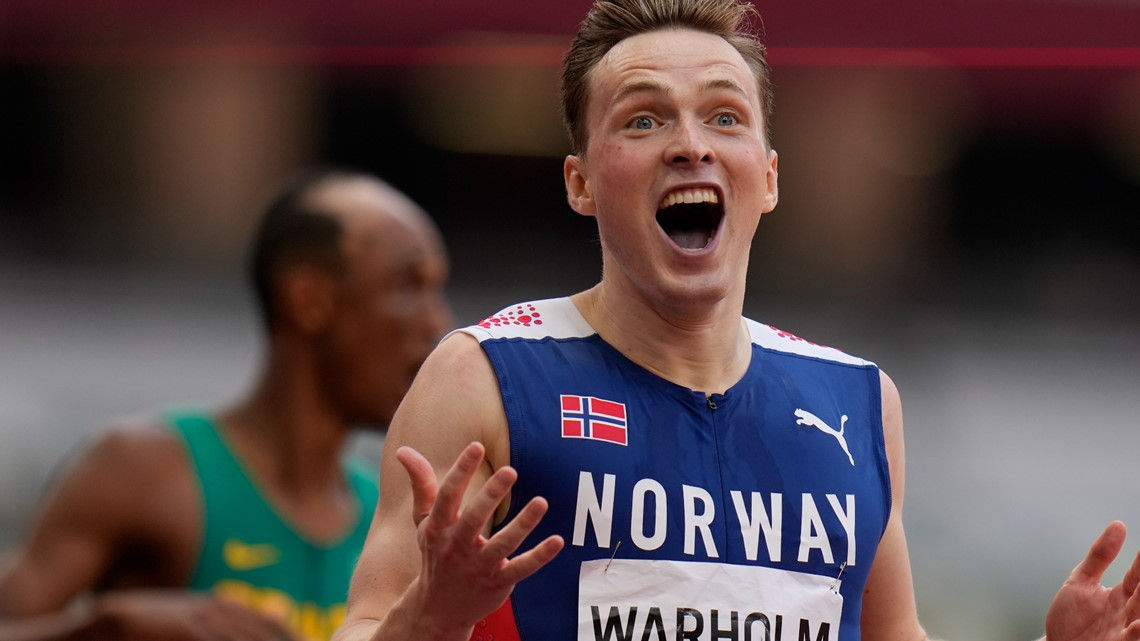 Warholm sets world record, wins 400 hurdles