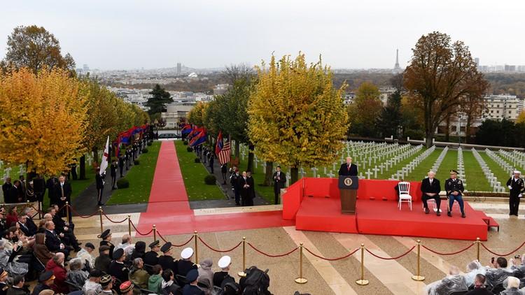 Trump ceremony Suresnes cemetery Armistice anniversary