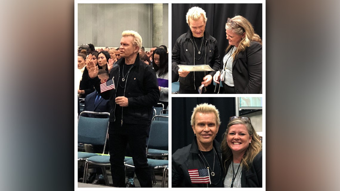 Rocker Billy Idol becomes US citizen | 9news com