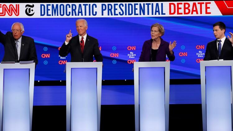 Election 2020 Debate Biden Sanders Warren Buttigieg