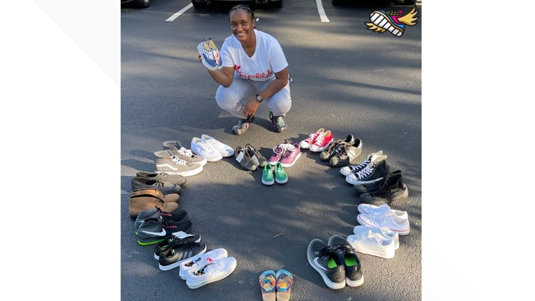 Bullied as a kid for her shoes, this Air National Guardsman is collecting footwear for kids in need