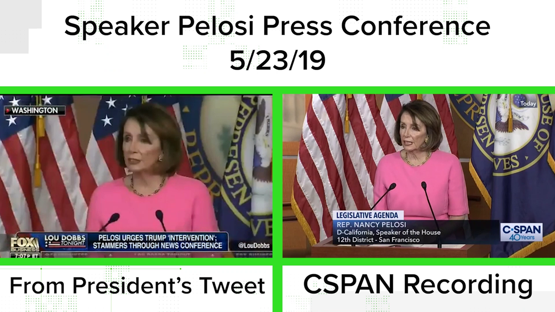VERIFY: The president didn't tweet a 'doctored' Pelosi video, but his lawyer did