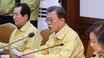 South Korea on high alert as leader calls for 'unprecedented' steps amid virus