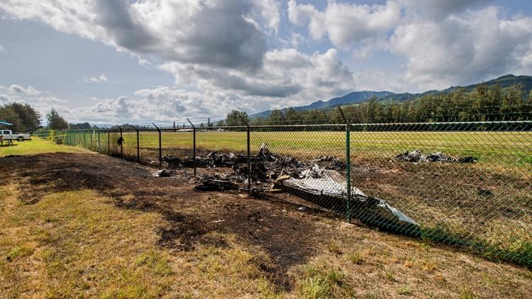 Hawaii Fatal Airplane Crash scene