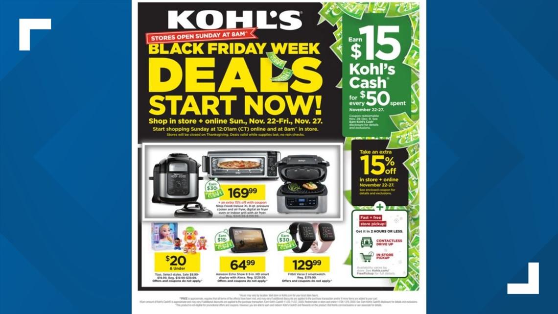 Kohl S Black Friday 2020 Ad Revealed Deals Starting Now 9news Com