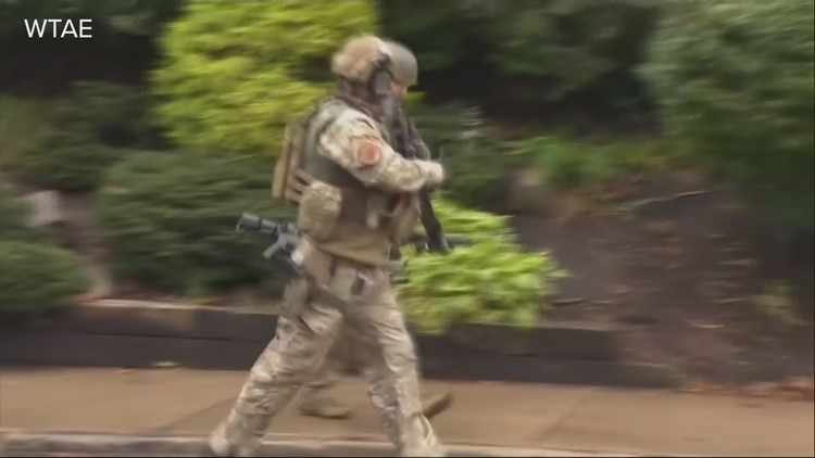 Pittsburgh police report active shooter near synagogue