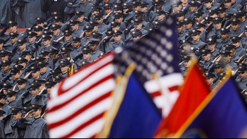 Military academies probe possible 'white power' signs before Army-Navy game