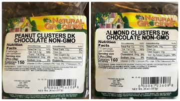 Natural Grocers recalls peanut clusters, almond clusters for possible allergens