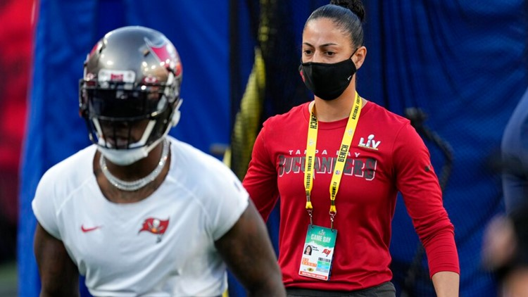 Bucs' Javadifar, Locust 1st female coaches to win Super Bowl