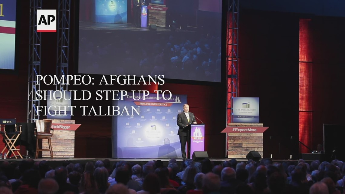 Pompeo: Afghans should step up to fight Taliban