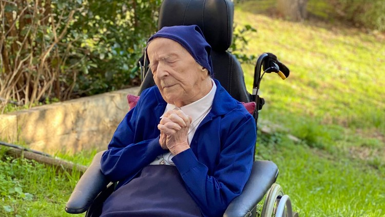 French nun who survived coronavirus toasts 117th birthday with wine and prayer