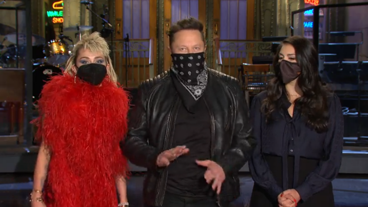 Elon Musk Jokes He's a 'Wild Card' In 'Saturday Night Live' Promo With Miley Cyrus