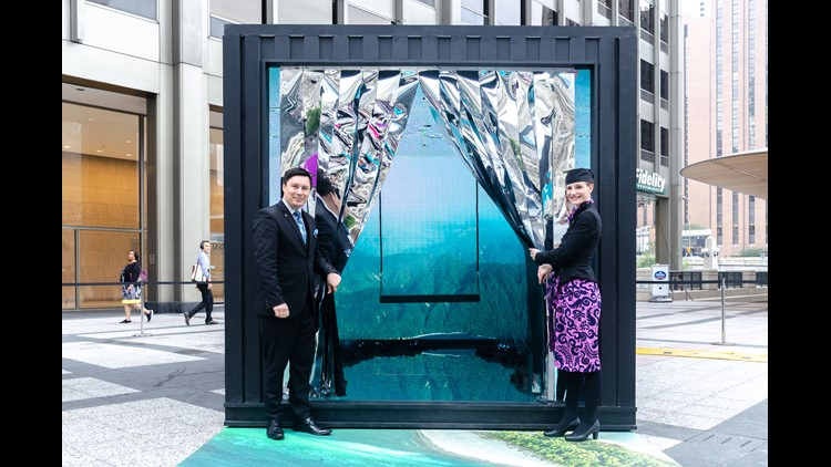 An infinity room? Trendy displays in shipping containers? Air New Zealand rolls out all the stops to promote  launch of its new Chicago-New Zealand route.