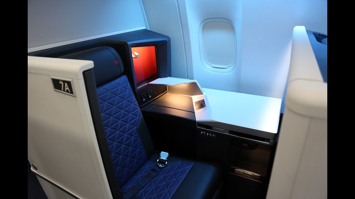Delta Air Lines reveals its first retrofitted Boeing 777 cabin