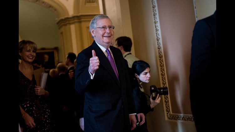 Senate Majority Leader Mitch McConnell praised President Trump's handling of North Korea, and said he has developed a good working relationship with Democrats even while passing important Republican priorities.