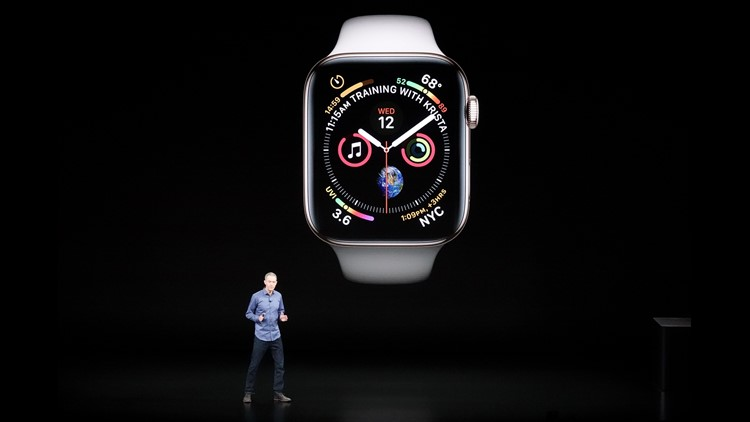 At event to tout new iPhones, Apple also unveiled a new look to the Apple Watch, with a larger screen size.