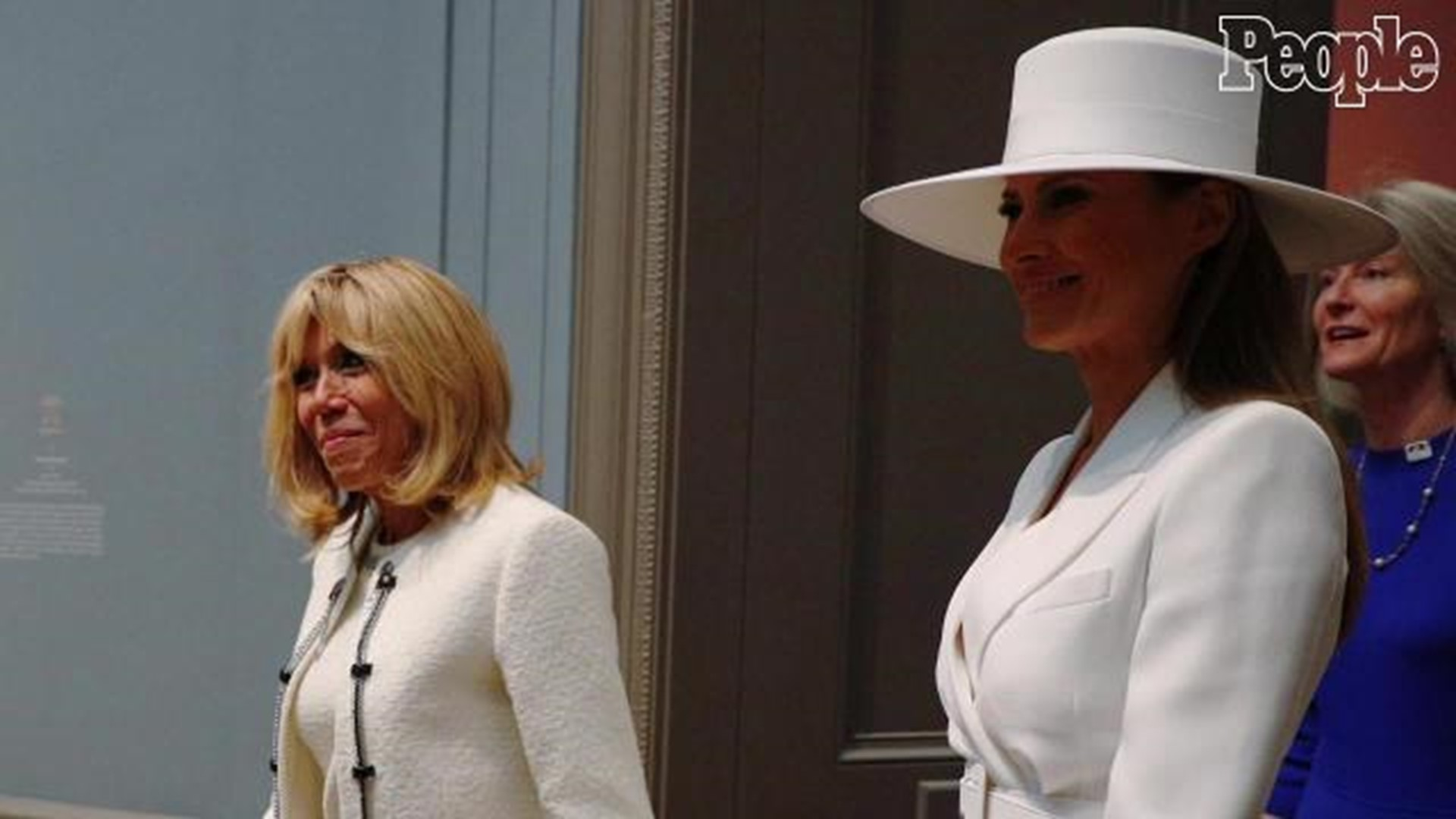 Melania Trump Really Fun But Can T Go Outside Says French First Lady Brigitte Macron 9news Com