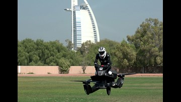 Hoverbikes may soon patrol streets of Dubai as police test flying motorbikes