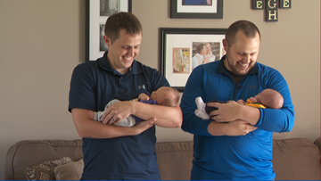 First sons born to twin brothers on same day