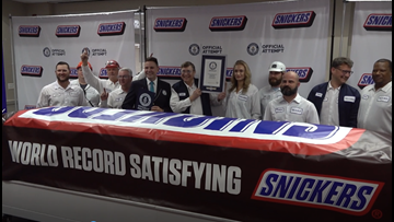 'Everything is bigger in Texas': World's largest Snickers bar unveiled