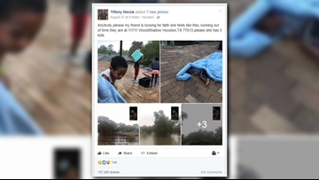 'I've never been that scared': Houston Harvey survivor's viral plea answered