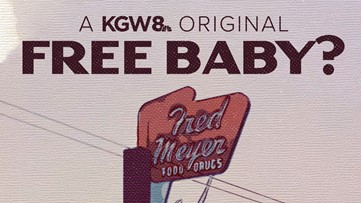 Free baby? 70 years ago an Oregon Fred Meyer had a strange giveaway for a store opening