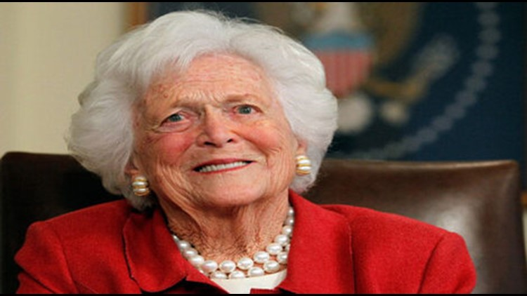 Barbara Bush died at her Houston home on Tuesday. She was 92.