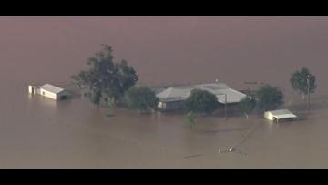 Devastating birds-eye view of Houston flooding