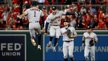 Astros beat Nationals 7-1 to seize control of World Series