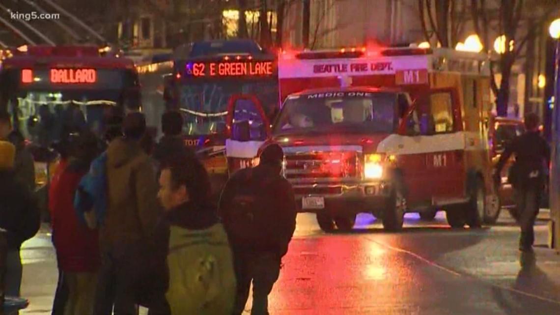 1 dead, 7 hurt in downtown Seattle shooting; no suspects in custody