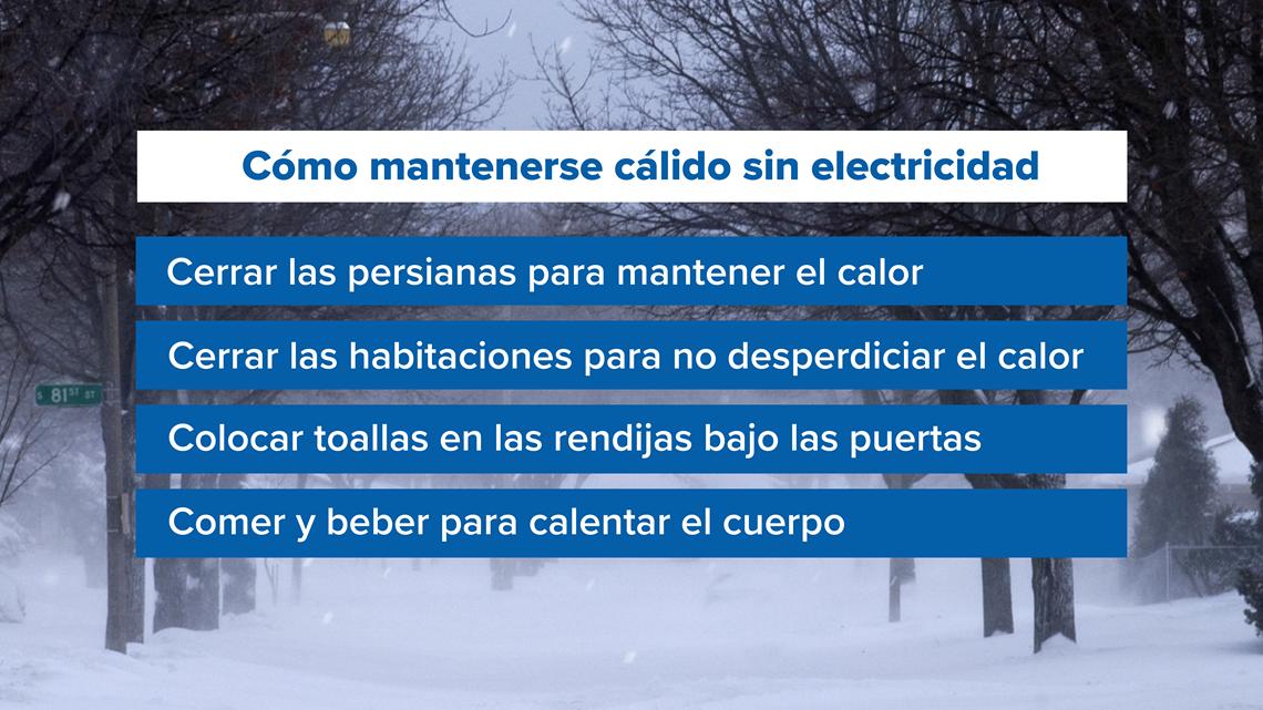 Cómo mantenerse cálidos en temperaturas extremadamente frías cuando hay apagones