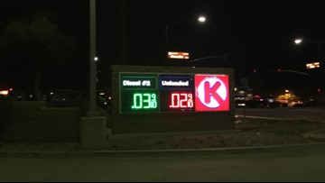 Glitch in the gas tank? Drivers shocked to see 2 cent gas at Arizona Circle K