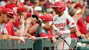 Hogs fall 5-4 to Texas Tech in Omaha elimination bracket of CWS