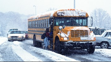 School districts announce closures during October snowstorm