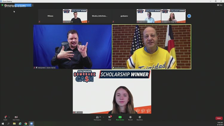 RAW: Polis announces 5 winners of first Colorado Comeback Cash scholarships